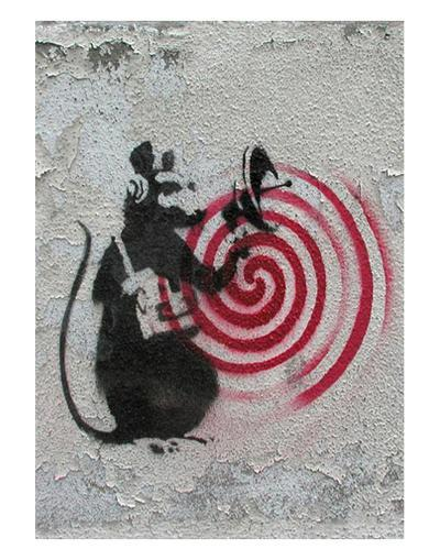Rat radar-Banksy-Art Print