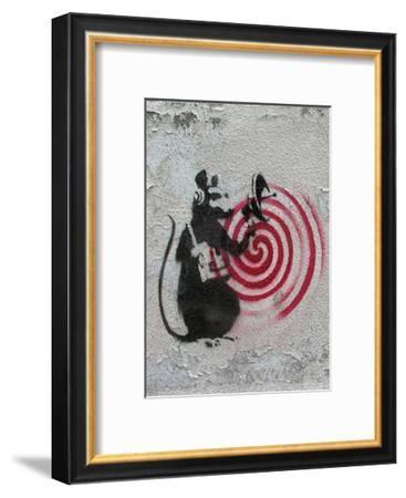 Rat radar-Banksy-Framed Art Print