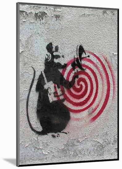 Rat radar-Banksy-Mounted Art Print