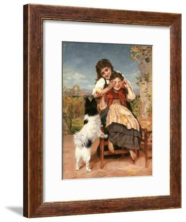 Rate mal (Guess Again)-Sophie Anderson-Framed Giclee Print