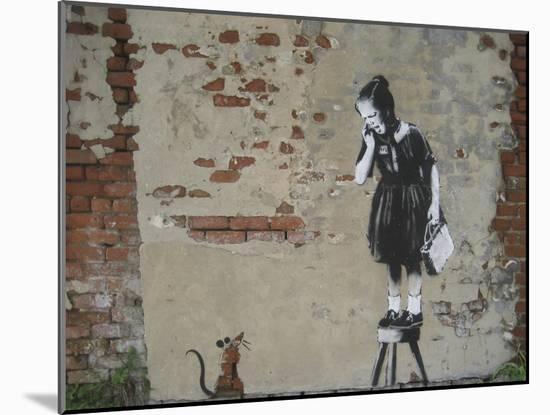 Ratgirl-Banksy-Mounted Premium Giclee Print