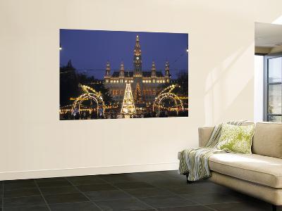 Rathaus at Christmas, Vienna, Austria-Alan Copson-Wall Mural
