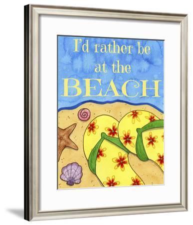 Rather Be at the Beach-Jennifer Nilsson-Framed Giclee Print