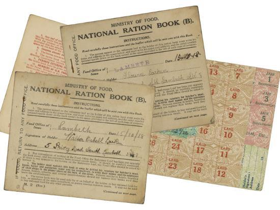 Rationing National Ration Books from the Ministry of Food--Photographic Print