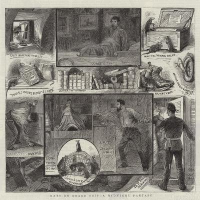 Rats on Board Ship, a Midnight Fantasy--Giclee Print