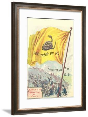 Rattlesnake Flag--Framed Art Print