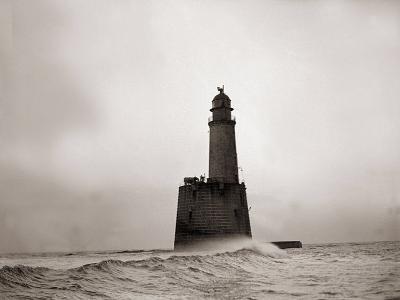 Rattray Head Lighthouse Scotland, December 1943--Photographic Print