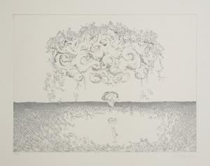 Untitlted - Girl Under Storm by Rauch Hans Georg