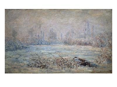 Rauhreiflandschaft Bei Vétheuil, 1880-Claude Monet-Giclee Print