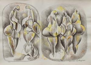 Etude de Femmes I by Raul Anguiano