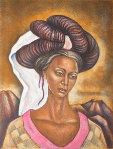 Muchacha de Cuetzalan by Raul Anguiano