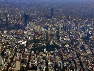 Aerial View of Mexico City by Raul Touzon