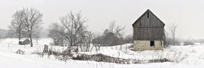 An Old Barn on Howe Island in Winter