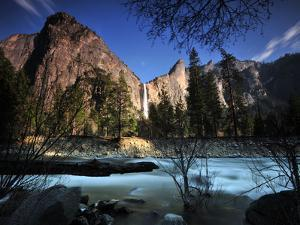 Bridalveil Fall and the Provo River by Raul Touzon