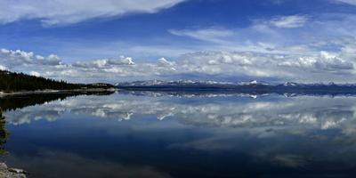 Clouds Reflected in Yellowstone Lake