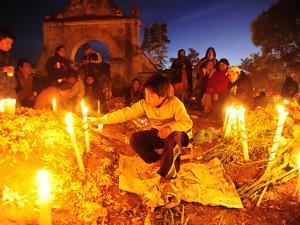 Day of the Dead Celebration in the Town Cemetery by Raul Touzon
