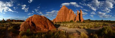 Sandstone Fin Formations at Sunset
