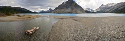 Scenic View of Bow Lake in Alberta, Canada by Raul Touzon