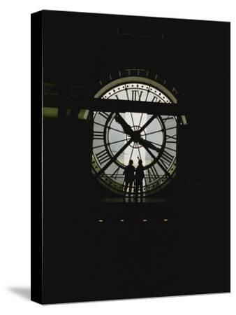 Silhouette of the Clock in the Central Gallery of the Musee Dorsay