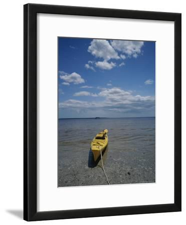 Yellow Kayak on a Beach in the Everglades