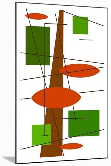 Rauth in Green-Tonya Newton-Mounted Art Print