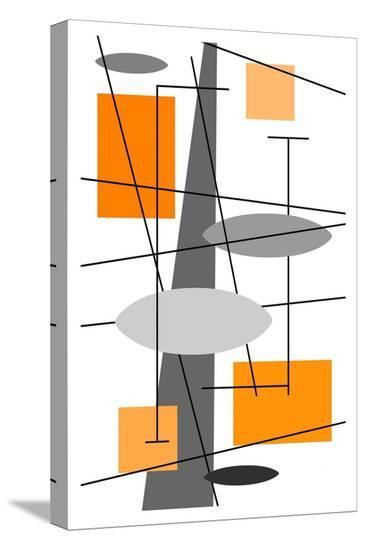 Rauth in Orange-Tonya Newton-Stretched Canvas Print