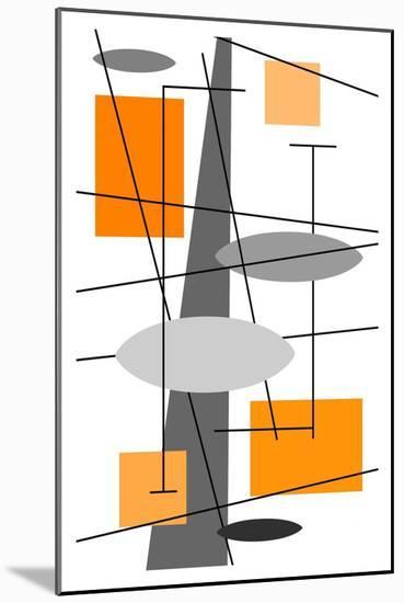 Rauth in Orange-Tonya Newton-Mounted Art Print