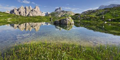 Rautkofel, Schwalbenkofel, Langalm, South Tyrol, the Dolomites Mountains, Italy-Rainer Mirau-Photographic Print