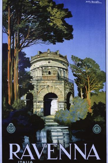 Ravenna Travel Poster-Attilio Rauaglia-Giclee Print