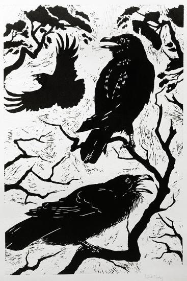 Ravens, 1998-Nat Morley-Giclee Print