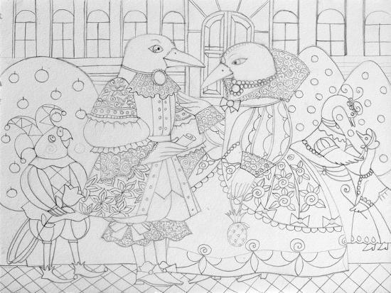 Ravens I-Oxana Zaika-Giclee Print