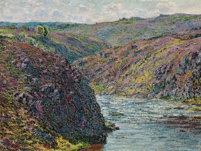 Ravines of the Creuse at the End of the Day, 1889-Claude Monet-Giclee Print