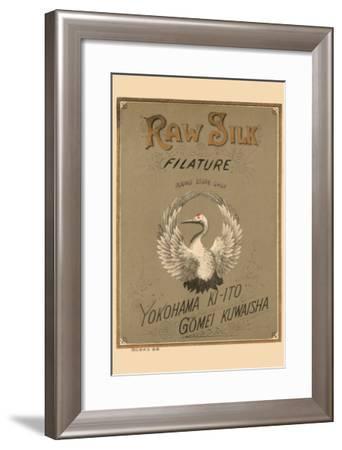 Raw Silk Filature Round Stork Chop, Yokohama--Framed Art Print