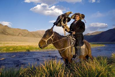 Kazakh Men Traditionally Hunt Foxes and Wolves Using Trained Golden Eagles