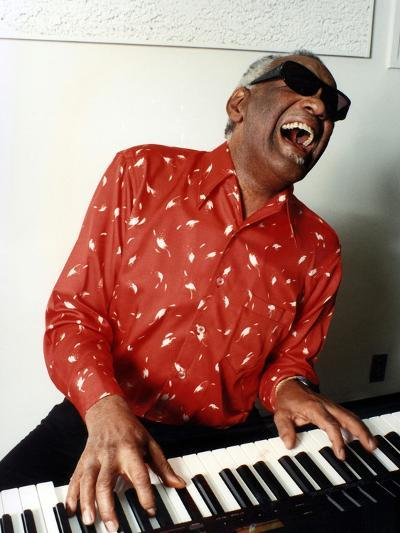 Ray Charles at Home in Los Angeles in February 1990--Photo