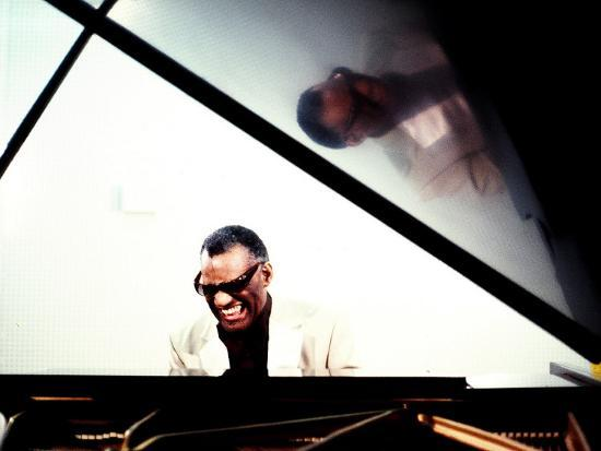 Ray Charles in the Studio at RPM International, Los Angeles--Photo