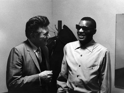 Ray Charles, Liberace - 1973-Howard Morehead-Photographic Print