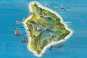 The Island of Hawaii Map by Ray Lanterman