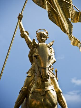 Gold Plated Statue of St. Joan of Arc in the French Quarter on Decator Street