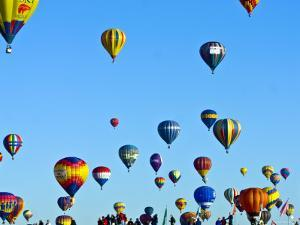 Hot Air Balloons at the Balloon Fiesta by Ray Laskowitz