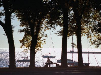 Lake Michigan from Grant Park, Chicago, Illinois