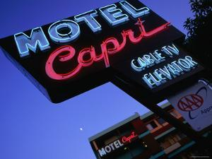 Motel Neon Sign, Act, Union Square, San Francisco, California by Ray Laskowitz