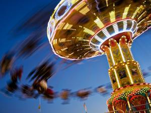 New Mexico State Fair Amusement Ride by Ray Laskowitz