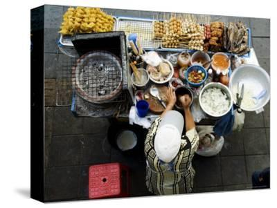 Overhead of Vendor at Street Food Stall