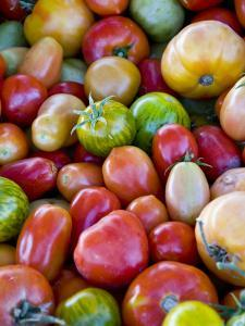 Red, Yellow and Green Tomatoes by Ray Laskowitz