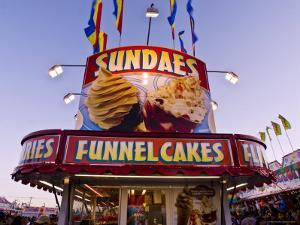 Sundaes and Funnel Cakes Stand at the New Mexico State Fair by Ray Laskowitz
