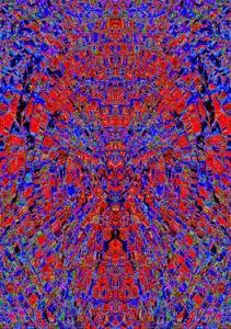A Red and Blue Kaleidoscopic Tapestry by Ray2012