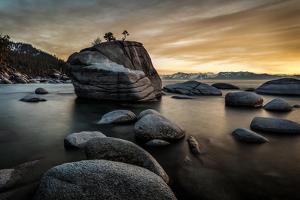 Sunset at Bonsai Rock in Lake Tahoe, Nevada by Raymond Carter