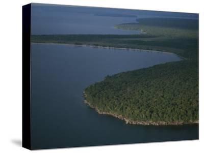 An Aerial View of the Apostle Islands and Lake Superior