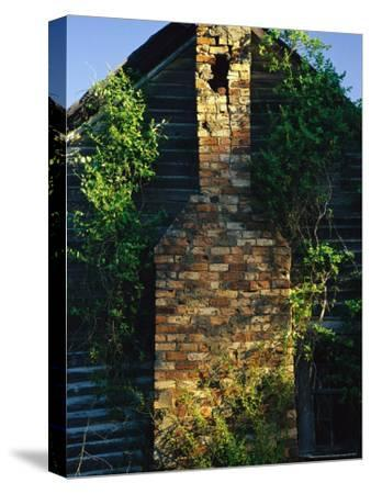 Chimney of an Old Log Cabin Homestead